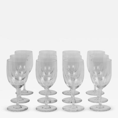 Twelve Baccarat Perfection Red Wine Glasses