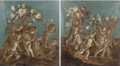 Two 18th Century Overdoor Paintings