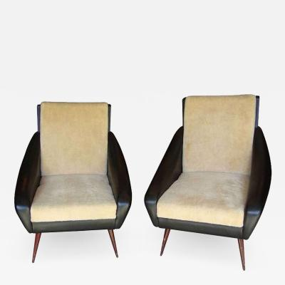Two 1950s Italian armchairs