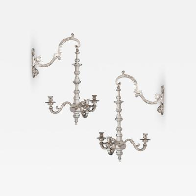 Two 19th Century French Neoclassical Style Three Branch Wall Lights