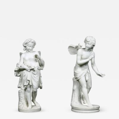 Two 19th Century Italian Marble Fairies