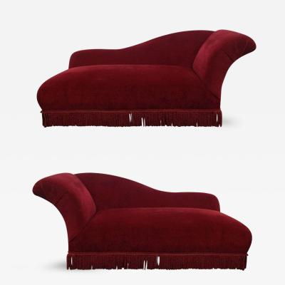 Two French Art Deco Chaise Lounges