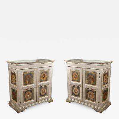 Two Hand Painted 19th Century Tuscan Cabinets