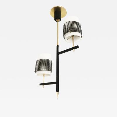 Two Light Mid Century Pendant