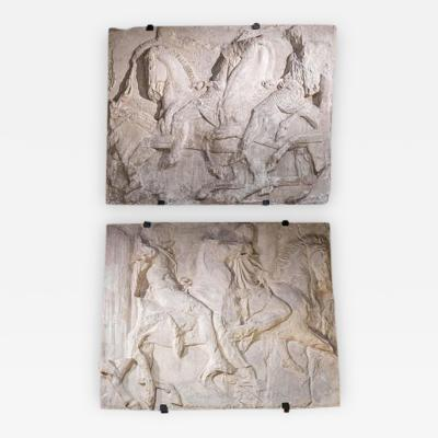 Two Plaster Cast Reliefs from the Frieze of the Parthenon Late 19th Century