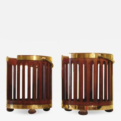 Two Regency plate buckets