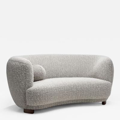 Two Seater Sofa by a Danish Cabinetmaker Denmark 1940s