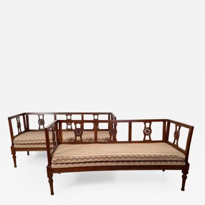 Two Similar Settees Italy 18th 19th Century