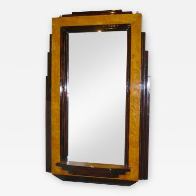 Two Toned Stepped Art Deco Mirror