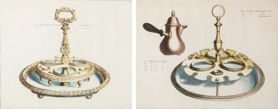 Two charming 19th century French trade catalogue pages