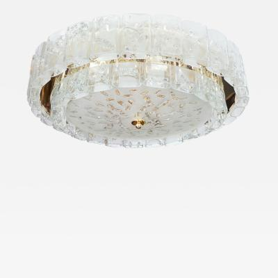 Two tier molded glass element chandelier