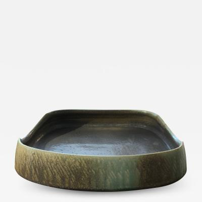 Tyler Gulden Square ceramic wheel thrown and hand built stoneware tray by Tyler Gulden