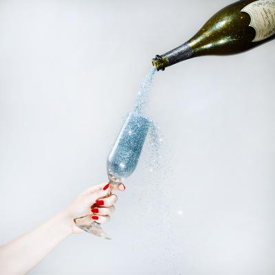 Tyler Shields Glitter Champagne