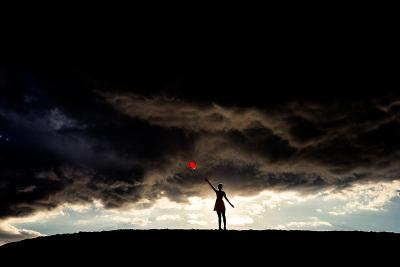 Tyler Shields Red Balloon