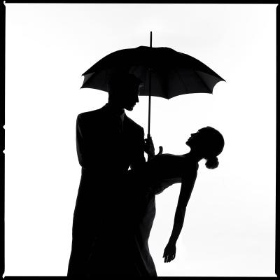 Tyler Shields Umbrella Silhouette