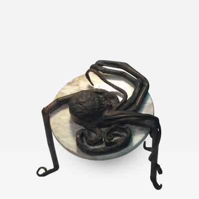 UNIQUE ITALAIN BRUTALIST OCTOPUS METAL AND MARBLE TABLE