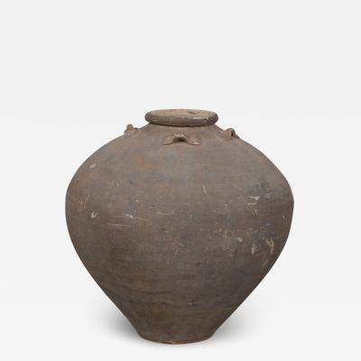 URN UNGLAZED POTTERY Gray Brown Chinese