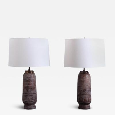 Ugo Zaccagnini A pair of table lamps designed by Ugo Zaccagnini