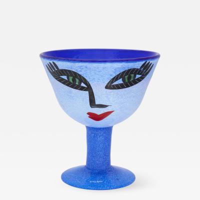 Ulrica Hydman Vallien Hand Painted Cup by Ulrica Hydman Vallien for Kosta Boda