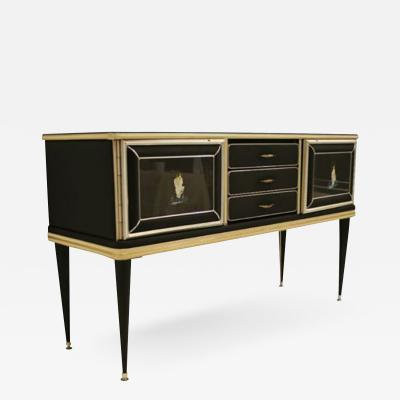 Umberto Mascagni Italian 1950s Chinoiserie Decorated Sideboard