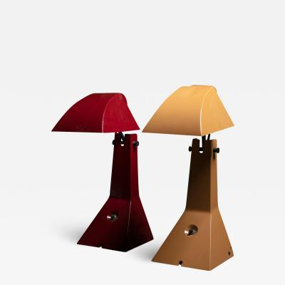 Umberto Riva Pair of E63 Table Lamps by Umberto Riva for Bieffeplast