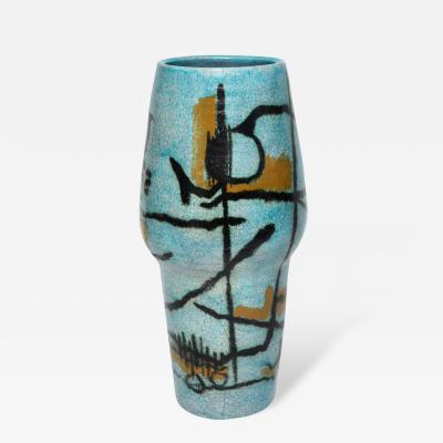 Umberto Zannoni Large Studio Vase by Umberto Zannoni