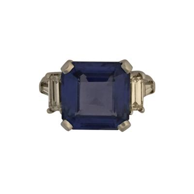 Unheated Ceylaon Sapphire Ring