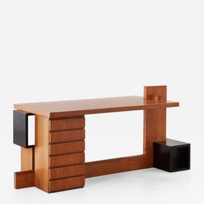 Unique Constructivist style desk Italy c1960