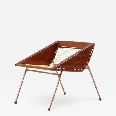 Unique Diy Studio Stool with Copper Pipes and Webbing USA 1960s