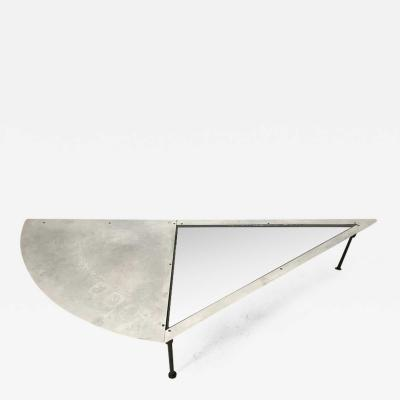 Unique Postmodern Steel and Glass Coffee or Cocktail Table