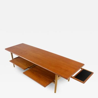 Unique Scandinavian Modern Teak Oak Coffee Table