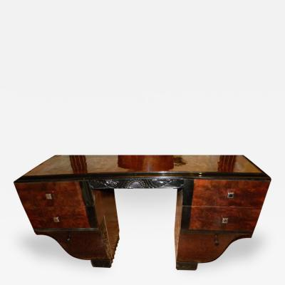 Unique Symmetrical Art Deco Desk Vanity French