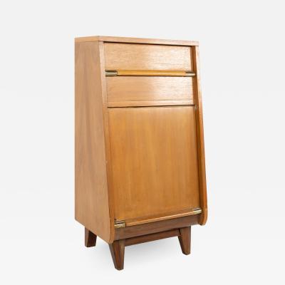 United Furniture Mid Century Walnut Nightstand Foyer Entry Console