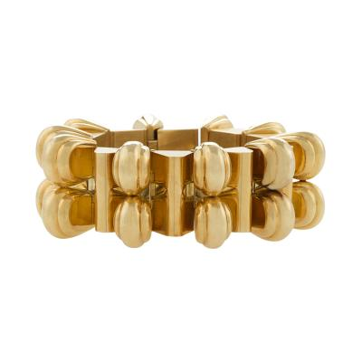 Universal Gen ve Mid 20th Century Wide Gold Bracelet