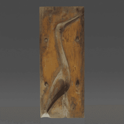 Unknown Artist Wood Mold of Making Egret Decoys