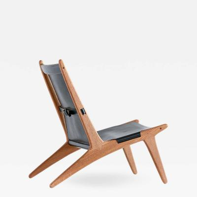 Uno Osten Kristiansson Lounge Chair Model 204 by Uno sten Kristiansson for Luxus Sweden 1954