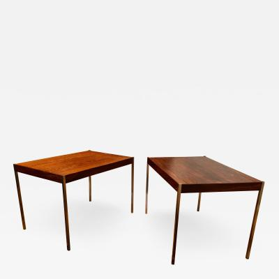Uno Osten Kristiansson Pair of Rosewood and Aluminum Sidetables by Luxus