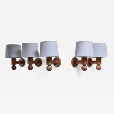 Uno Osten Kristiansson Set of 5 Uno Osten Kristiansson wall lamps for Luxus
