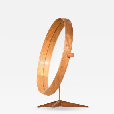 Uno Osten Kristiansson Table Mirror Produced by Luxus