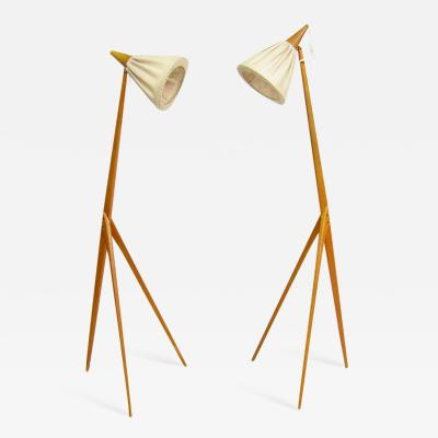Uno Osten Kristiansson Two Giraffe Floor Lamps by Uno Kristiansson for Luxus