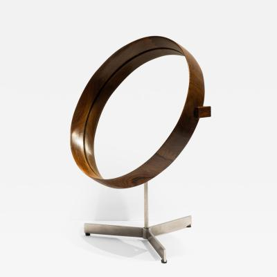 Uno Osten Kristiansson Uno and Osten Kristiansson Rosewood Table Mirror for Luxus