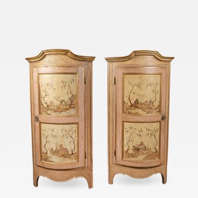 Untouched 18th Century Corner Cabinets