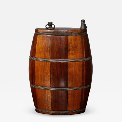 Unusual Barrel Form Flask