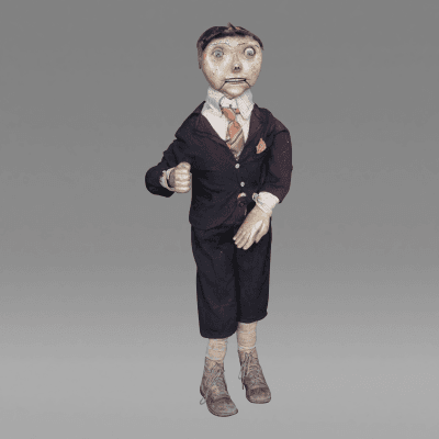 Unusual Early Ventriloquist Figure