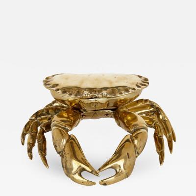 Unusual English crab shaped brass inkstand