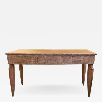 Unusual French 40s Cerused Oak Console