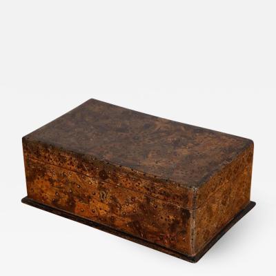 Unusual Palmwood Marquetry Box