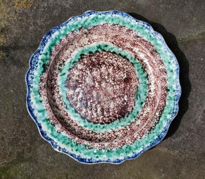 Unusual Whieldon type Pearlware Plate
