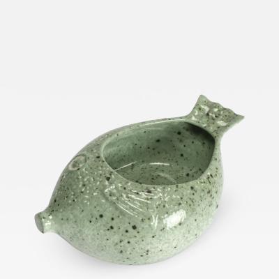 Unusual ceramic fish bowl 60s
