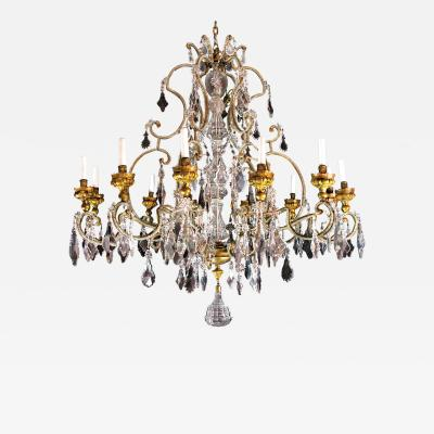 Unusually Brilliant Crystal Chandelier with 12 Lights